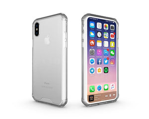 Fab-Case  Clear Air Hybrid Clear Back Hard shell impact resistant corners for Apple iPhone X