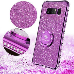 Fab-Case.Com Phone Case for Samsung Galaxy note 8 Glitter Diamond Luxury Bling Case for Samsung Galaxy Note 8