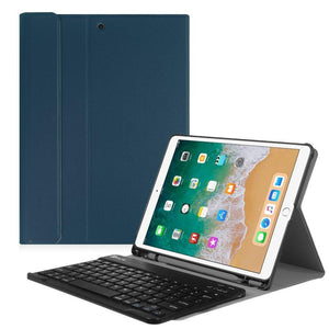 Fab-Case  Finitie *Navy Fintie iPad Pro 10.5 Keyboard Case with Built-in Apple Pencil Holder - SlimShell Protective