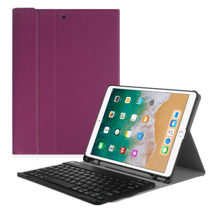 Fab-Case  Finitie Purple Fintie iPad Pro 10.5 Keyboard Case with Built-in Apple Pencil Holder - SlimShell Protective