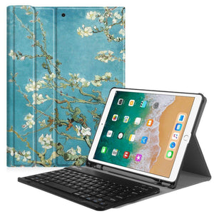 Fab-Case  Finitie ZA-Blossom Fintie iPad Pro 10.5 Keyboard Case with Built-in Apple Pencil Holder - SlimShell Protective
