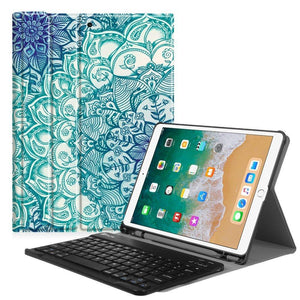 Fab-Case  Finitie ZA-Emerald Illusions Fintie iPad Pro 10.5 Keyboard Case with Built-in Apple Pencil Holder - SlimShell Protective