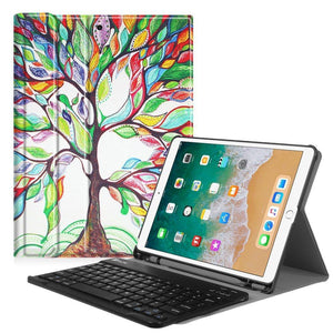 Fab-Case  Finitie ZA-Love Tree Fintie iPad Pro 10.5 Keyboard Case with Built-in Apple Pencil Holder - SlimShell Protective