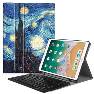 Fab-Case  Finitie ZA-Starry Night Fintie iPad Pro 10.5 Keyboard Case with Built-in Apple Pencil Holder - SlimShell Protective