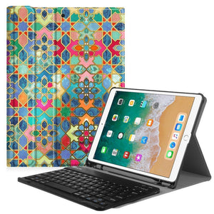 Fab-Case  Finitie ZB-Bohemian Ledge Fintie iPad Pro 10.5 Keyboard Case with Built-in Apple Pencil Holder - SlimShell Protective