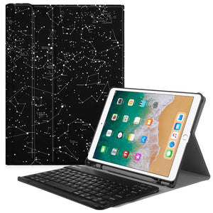 Fab-Case  Finitie ZB-Constellation Fintie iPad Pro 10.5 Keyboard Case with Built-in Apple Pencil Holder - SlimShell Protective