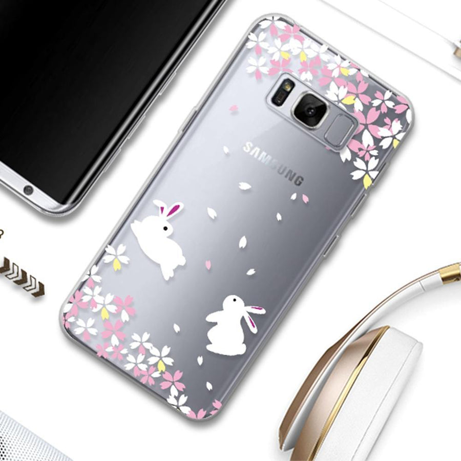 Fab-Case  For Samsung Galaxy S8 Case Floral Fairy Transparent Silicone Cover For Galaxy S8/S8 Plus