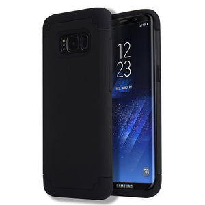 Fab-Case  For Samsung Galaxy S8/S8 Plus Case Slim Hybrid Dual Layer Shockproof Silicone Case Cover