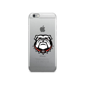 Fab-Case  Georgia Bulldogs Phone Case iPhone 6/6s Georgia Bulldogs Clear Back Phone Case for iPhone 6 7 8 Plus X
