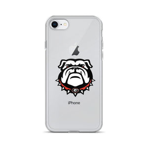 Fab-Case  Georgia Bulldogs Phone Case iPhone 7/8 Georgia Bulldogs Clear Back Phone Case for iPhone 6 7 8 Plus X