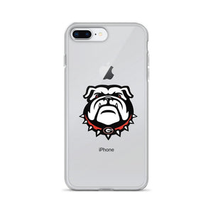Fab-Case  Georgia Bulldogs Phone Case iPhone 7 Plus/8 Plus Georgia Bulldogs Clear Back Phone Case for iPhone 6 7 8 Plus X