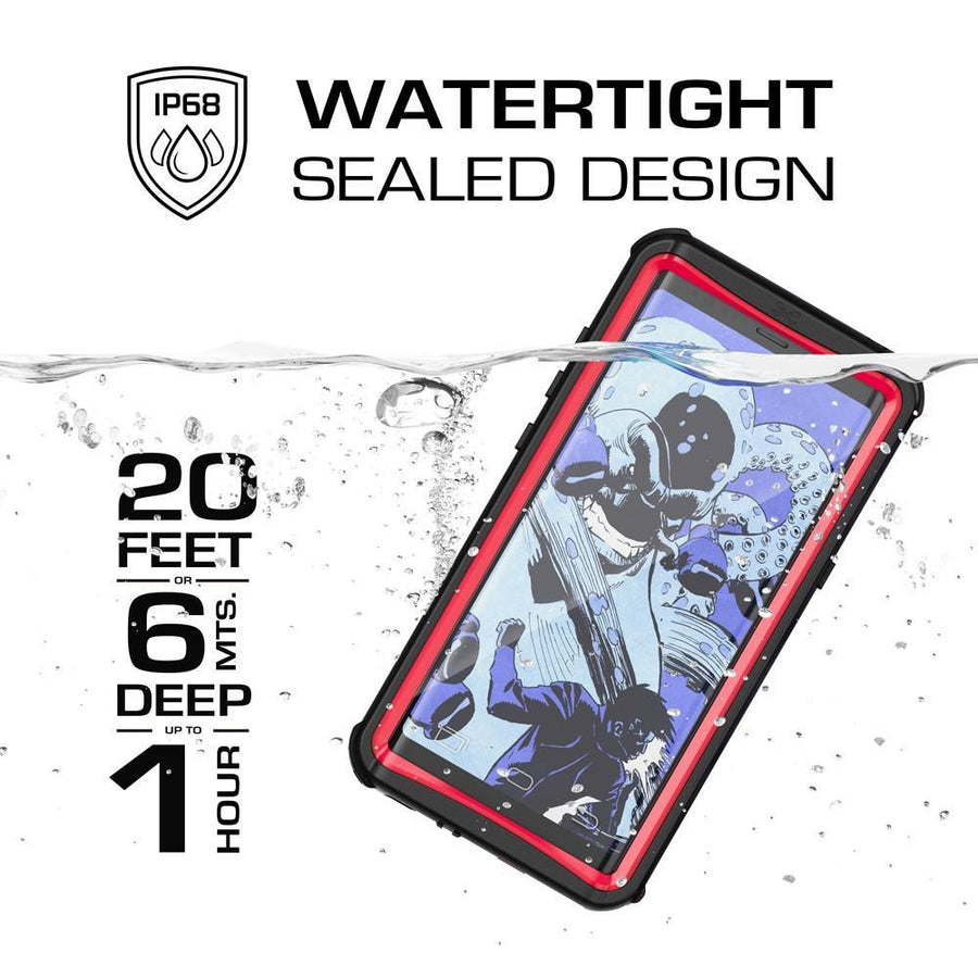 Fab-Case Red Ghostek Shockproof Case for Samsung Galaxy Note 8 Cover Waterproof Nautical Series