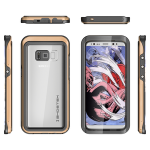 Fab-Case  GOLD Ghostek Atomic 3 Shockproof Waterproof Case for Samsung Galaxy S8