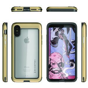 Fab-Case Gold Ghostek Atomic Slim Cover For Apple iPhone X Shockproof Armor Case