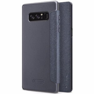 Fab-Case  Gray Flip Case For Samsung Galaxy Note 8 Nillkin Sparkle Series Hard Plastic PU Leather Cover