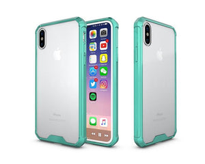Fab-Case  Green Air Hybrid Clear Back Hard shell impact resistant corners for Apple iPhone X