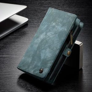 Fab-Case  Green / For iPhone 8 CaseMe Genuine Leather Zipper Multi Function Wallet Case for iPhone 8