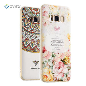 Fab-Case  Gview 3D Relief Printing Clear Soft TPU Case For Samsung Galaxy S8/S8 Plus Phone Back Cover Ultra-thin