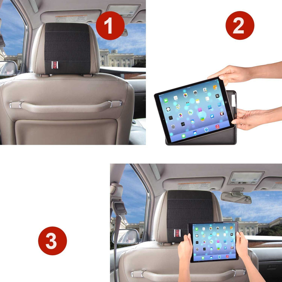 Fab-Case  ipad pro stand 12.9 TFY Car Headrest Mount Holder for Apple iPad Pro 12.9 inch, Black