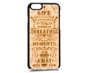 Fab-Case  iPhone 5/5S/SE / Black MMORE Wood case cover for apple iPhone and Samsung galaxy cover