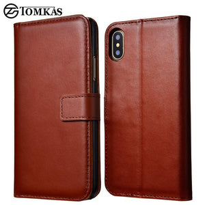 Fab-Case  IPHONE X Case Brown Tomkas Leather credit card wallet Case for Apple iPhone X 10