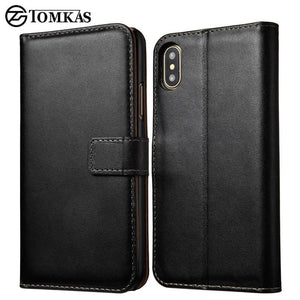 Fab-Case  IPHONE X Case Tomkas Leather credit card wallet Case for Apple iPhone X 10