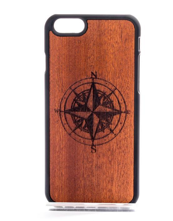 Fab-Case  MMORE Wood Compass Phone case For iPhone 6,7,8 & Plus Galaxy S6,S7,S8 & Plus
