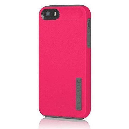 Fab-Case  Mobile Phone Accessories iPhone 5 5S SE Case, Incipio DualPro Case Shockproof Hard Shell Hybrid Authentic Rugged Cover - Charcoal/Pink