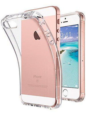 Fab-Case  Mobile Phone Accessories iPhone SE Case Clear, iPhone 5s case, iPhone 5 case, ULAK Clear Slim Fit 5/5S/SE Case With Flexible Soft TPU Bumper Shock-Absorption Cover -Retail Packaging - Clear