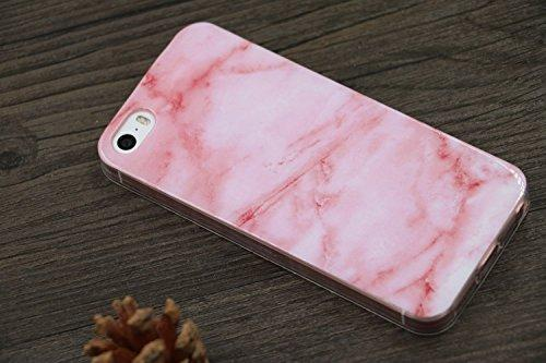 Fab-Case  Mobile Phone Accessories Iphone SE Case, Iphone 5 Case, Iphone 5s Case, IiEXCEL Marble Pattern Pink Cobble Soft Flexible TPU Slim Fit Cover Case for Iphone 5 / 5s / SE (Color 13)