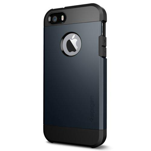 Fab-Case  Mobile Phone Accessories Spigen Tough Armor iPhone SE / 5S / 5 Case with Extreme Heavy Duty Protection and Air Cushion Technology for iPhone SE / iPhone 5S / iPhone 5 - Metal Slate