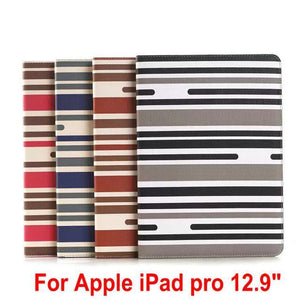 Fab-Case  New Fashion Auto Wake/Sleep Classic leather case For Apple iPad Pro case 12.9 stripe pattern