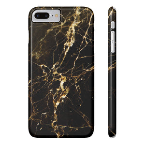 Fab-Case Phone Case Black Gold Designer Marble Series Ultra Slim By Fab Case For Apple iPhone 7/8 Plus Cover