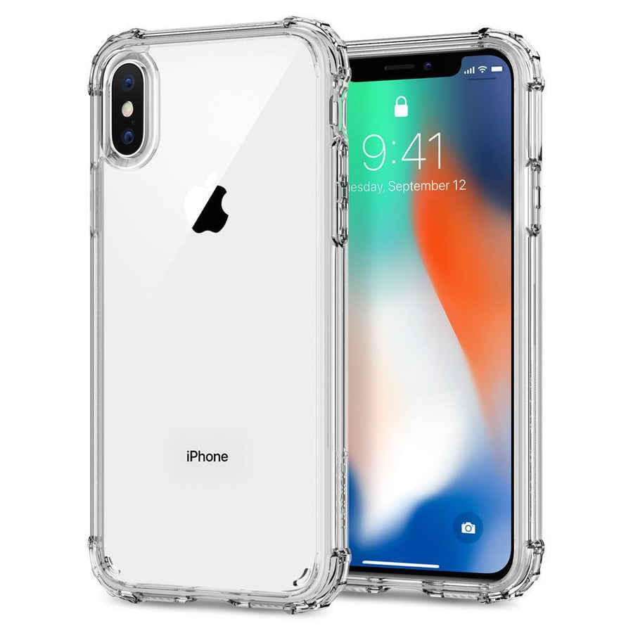 Fab Case Phone Case Spigen Crystal Shell Case for Apple iPhone X Cover Military Grade Protection