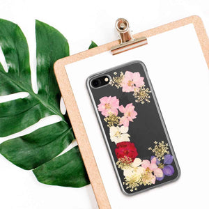 Fab Case Phone Case Flavr Ultra Slim Fashion Case Real Flowers Grace for Apple iPhone 6/6s/7/8