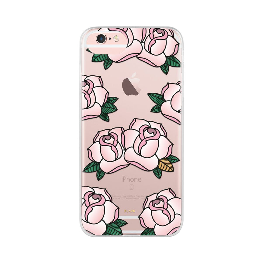 Fab Case PHONE CASE Flavr Ultra Slim Fashion Roses Case For Apple iPhone 6/6s/7/8