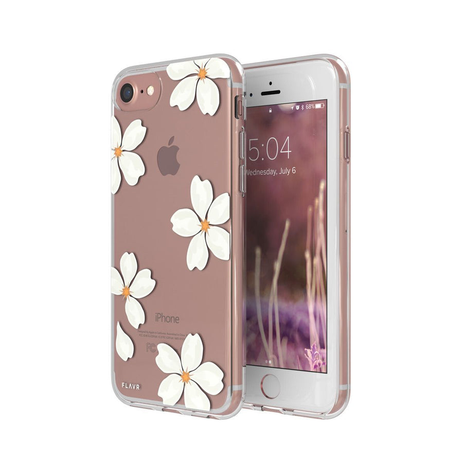 Fab Case phone case FLavr Ultra Slim Fashion White Petals Case for Apple iPhone 6/6s/7/8
