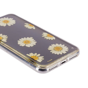 Fab Case Phone Case Flavr Ultra Slim Real Flower Daisy Fashion Case For Apple iPhone x