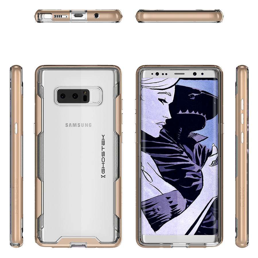 Fab-Case  Phone Case BLACK Ghostek Slim Armor shockproof Case for Samsung Galaxy Note 8 Cover Cloak 3 Series
