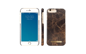 fab case Phone Case IDEAL OF SWEDEN FASHION CASE BROWN MARBLE FOR IPHONE 6/6S/7/8
