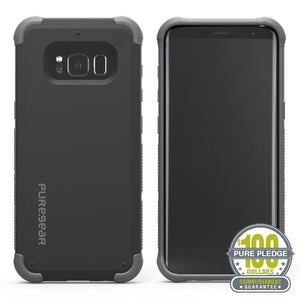 Fab Case Phone Case Matte Black PureGear DualTek Extreme Shock Case Pure Pledge Program for Samsung Galaxy S8