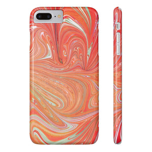 Fab-Case Phone Case Peach Designer Marble Series Ultra Slim By Fab Case For Apple iPhone 7/8 Plus Cover