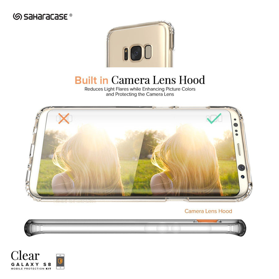 Fab Case Phone Case SaharaCase Classic Case For Samsung Galaxy S8 (Clear)