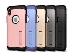 Fab-Case  PHONE CASE Spigen Tough Armor For Apple iPhone X 10 Case with Kickstand Extreme Heavy Duty Protection