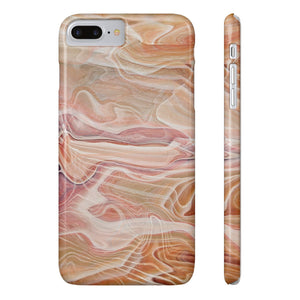 Fab-Case Phone Case Tan Designer Marble Series Ultra Slim By Fab Case For Apple iPhone 7/8 Plus Cover