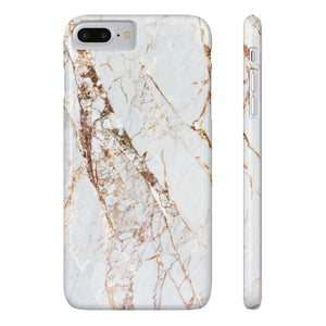 Fab-Case Phone Case White Gold Designer Marble Series Ultra Slim By Fab Case For Apple iPhone 7/8 Plus Cover