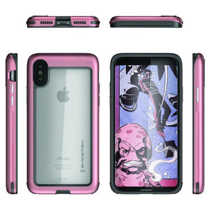 Fab-Case Pink Ghostek Atomic Slim Cover For Apple iPhone X Shockproof Armor Case