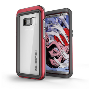 Fab-Case  RED Ghostek Atomic 3 Shockproof Waterproof Case for Samsung Galaxy S8