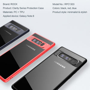 Fab-Case  ROCK Ultra-Slim Transparent PC+TPU Silicone Shockproof Case for Samsung Galaxy Note 8