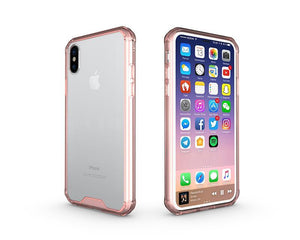 Fab-Case  Rose Gold Air Hybrid Clear Back Hard shell impact resistant corners for Apple iPhone X
